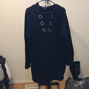 Black Sweater Material Tunic forever 21 plus